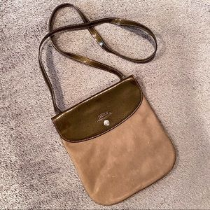 LONGCHAMP Le Pliage Tan Nylon Crossbody Bag